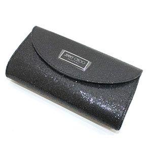 New JIMMY CHOO parfums black sequin clutch bag